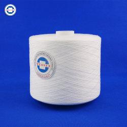 Filato cucirino filato 100pct grezzo semi con acuto del poliestere di bianco 62/2