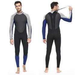 뒤 Zip 봄 잠수용 고무옷 남자의 3mm 파도타기를 하는 한 벌 수영복