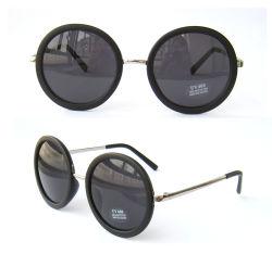 Óculos de acetato de material com hastes de metal