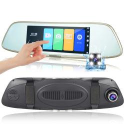 """7"""" 1080P de FHD coche DVR Grabador de conducción del espejo retrovisor"""