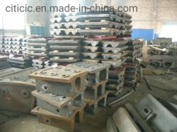 liga de aço fundido de dureza elevada protecção de moinho de esferas com ISO 90001
