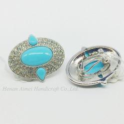 Элегантный алюминиевый Earring моды сосны камня золото ретро вкладыши шпильки