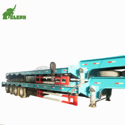 Les concessionnaires d'équipement lourd de gros Lowbed Lowboy semi-remorque de camion avec manuel d'échelles pour transporter de l'excavateur