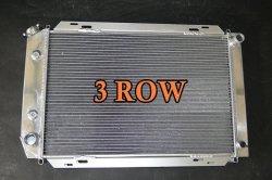 3 linhas de radiador Auto Racing Ford Mustang Manual 79-93