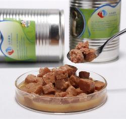 ビーフの固まりの味によって缶詰にされるドッグフードのペットフード