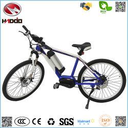 Venta caliente barato al por mayor de 250W Bicicleta eléctrica Bastidor de aleación de aluminio del motor de mediados de la bicicleta MTB E-bici con el pedal