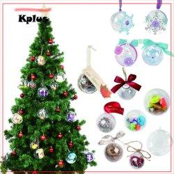 透過明確なクリスマスの球は商品、ハングのクリスマスツリーのための上の販売をインストールする