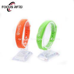 Le contrôle des accès Smart Tyevk Bracelet Bracelet en silicone ID RFID IC pour l'hôpital de la bande de poignet