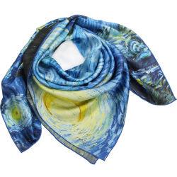 De rijpe Sjaal van het Satijn van Dame Big Sqaure Digital Printing Zuivere Zijde