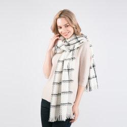 Vrouwen Mode Cashmere Woven Regular Plaid Design Dames Scarve