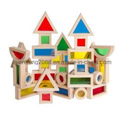 아크릴 구획 16PCS 세트를 건설하는 유치원 아이 나무로 되는 장난감 큰 무지개는 벽돌 장난감을 계몽한다