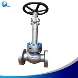 Nikel Base Alloy Steel Inconel 625 A494 Cw6mc Pressure Seal Extended Bonnet Cryogenic Flange Globe Valve with Blue Xylan PTFE 코팅 스터드 볼트 및 너트