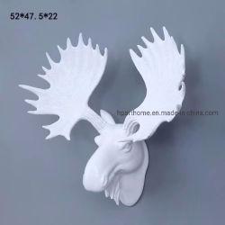 Accueil Salle de séjour d'accessoires de décoration blanc Buck Chef d'art de sculpture