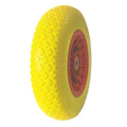 [بو] زبد عجلة مع [بّ] حافّة 4.00-8 لون أسود/صفراء/اللون الأزرق