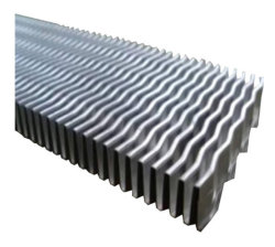 Pleine barre en aluminium de la plaque du refroidisseur d'huile échangeur air-air du radiateur Turbulator fin