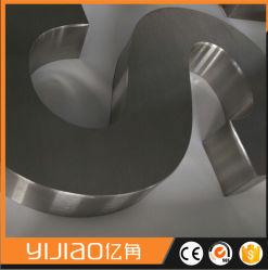 En acier inoxydable 316 Built-up en 3D signer la lettre fini brossé