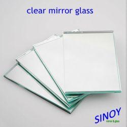二重上塗を施してある1.1mmから6mmは2440 x 3660mmの最大サイズの銀製ミラーのガラスシートを非振る
