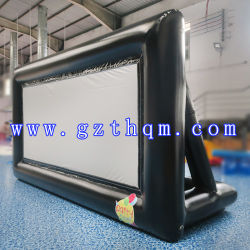 شاشة أفلام قابلة للانتفاخ للوسائد الهوائية 5X3M للاستخدام في الأماكن الخارجية