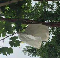 Micropore blanco bolsa de papel de la fruta de uva con cable