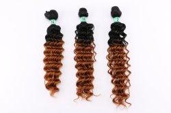 Vague profonde Glueless Cosplay Cheveux 3pcs/lot les Extensions de cheveux à haute température perruque ondulées de fibres synthétiques de la moitié pour les femmes
