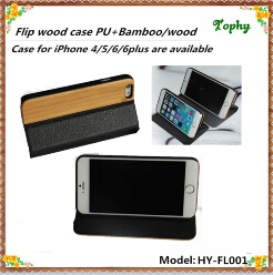 Form Wooden Style mit Stand Flip Leather Wood Fall für Iphoneeather Wood Fall für iPhone 5s, Wood 2015 Bamboo Leather Wallet Flip Argument Cover für iPhone6plus