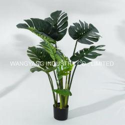 1.2Meters искусственных синтетических поддельные ручной работы зеленый Monstera бонсай растений различных размеров доступны