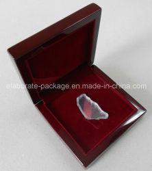 Borgoña satinado madera regalo Caja de embalaje Caja de monedas caja de embalaje de madera