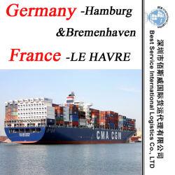 """Service de transport de conteneurs, Bremenhaven de Hambourg (Allemagne) ; Le Havre (France) - 20""""/40"""""""
