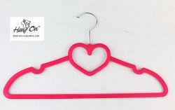 Hartvormig fluwelen geklokte Hanger voor kleren