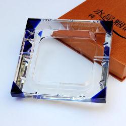 Cendrier de cristal carré promotionnel pour la décoration des cadeaux