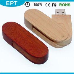 USB 2.0 Aandrijving van de Flits USB van het Embleem van de Gravure van het Type van Interface de Houten voor Vrije Steekproef
