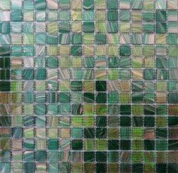 Mosaico all'ingrosso di vetro verde delle mattonelle della piscina della cucina della stanza da bagno del materiale da costruzione di sconto