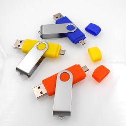 Logo personnalisé 2GB 4GO 8 GO de 16Go et 32 Go 64 Go de la rotation du lecteur Flash USB Thumb Lecteurs Lecteur Flash USB Memory Stick™ USB Disque mobile pivotant pour Android