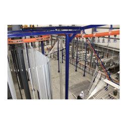 De elektrostatische Lijn van de Deklaag van het Poeder van de Profielen van het Aluminium van de Machine van de Deklaag van het Poeder van de Apparatuur van het Poeder Bespuitende