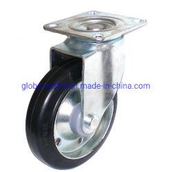 Черный Высокопроизводительный промышленный стальной резиновой самоустанавливающегося колеса