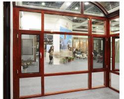 نافذة من الألومنيوم المصمت من الخشب الصلب بأسلوب أوروبي مع الإمالة والانعطاف الفتح