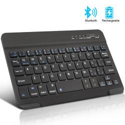 人間の特徴をもつIos WindowsのiPadの電話タブレットのゴム製Keycapsの再充電可能なキーボードのためのキーボードBluetooth小型無線キーボード