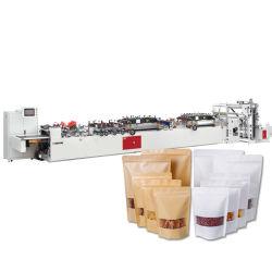 Fabrik Preis laminierte PE Doypack Ziplock Stand Up Papierbeutel Machen Sie Maschine Reißverschlussbeutel Herstellung Maschine für Snack-Paket
