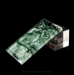 1276 ~ 17.52 mm 強化サファイアブルー / ヒスイグリーンリフレクティブ(再帰反射)で装飾用 ラミネートガラス