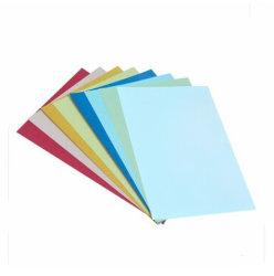 A4 bleu rouge vert blanc noir en cuir Grain Paper Board pour la fixation capot dossier de fichier