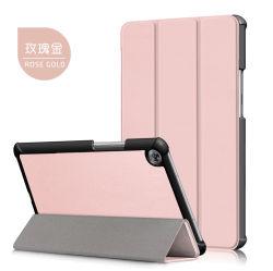 علبة غطاء من الجلد المطوية الذكية والمقاومة للصدمات ثلاث مرات Huawei Mediapad M5 بحجم 8.4 بوصات