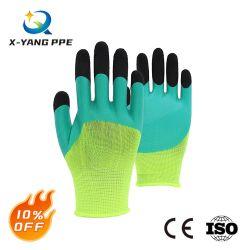 La mousse de latex antistatique paume enduite de sécurité au travail du travail Travaillant la main des gants pour la construction de jardin