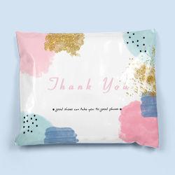 Oro rosa de Regalo de envasado de sobres de envío de plástico bolsas para expresar la entrega con funda de hoja de ruta Eco-Friendy fábrica Poli Mailer