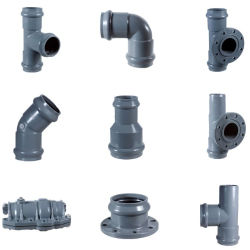 Plastic UPVC Equal Tee Elbow Rubber Ring Joint Fitting With Three Socket Factory Supply Pn10