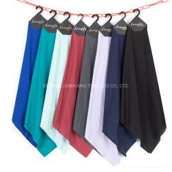 中国Wholsale人のための織物によって染められるTcの多綿ポプリンのMicrofiberのワイシャツファブリック
