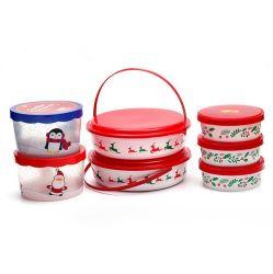 Caja de almacenamiento de dulces de cacahuete dulces organizador aperitivo aperitivo de la placa de plástico cajas de almacenamiento de contenedores de alimentos