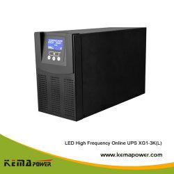 Solo tres fase alta frecuencia de onda senoidal de UPS en línea de alimentación ininterrumpida batería integrada