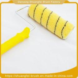 بكرة طلاء أكريليك مع قماش بخطوط صفراء