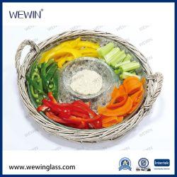 الصين تتاجر 2 pcs أدوات المطبخ صينية مع ألواح من الخيزران الزجاجية