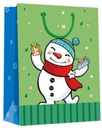 Joyeux Noël de bonne qualité stratifié mat Shopping sac de papier cadeau